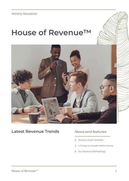 House of Revenue Newsletter