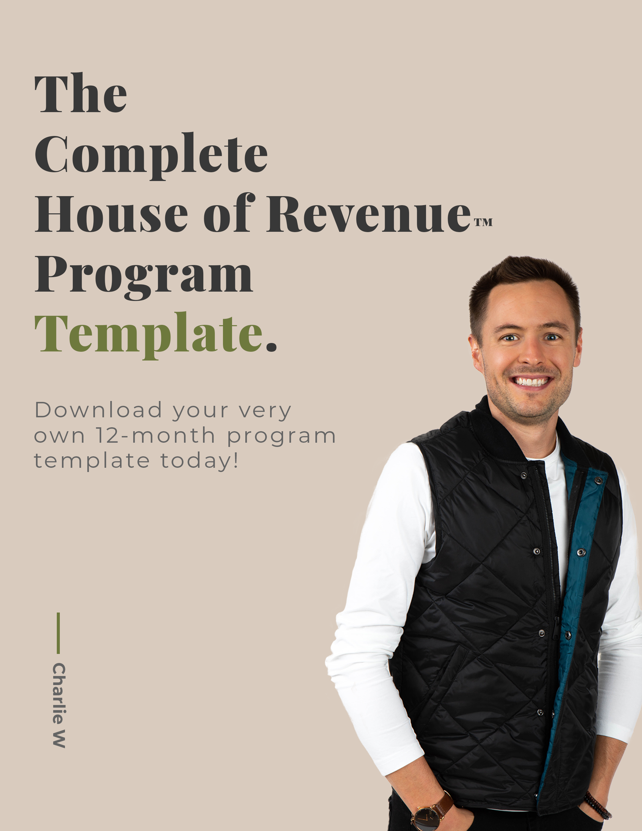 Program Template Downloadable Cover Page